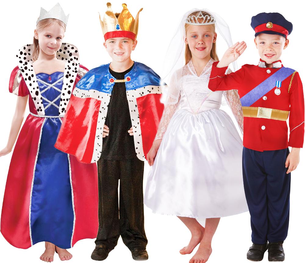British Royal Kids Fancy Dress Book Week Fairytale Boys Girls ...