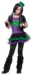 Girls Funkie Frankie Costume