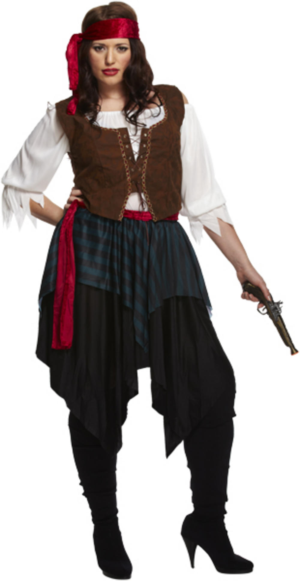 Caribbean Pirate Plus Size Costume
