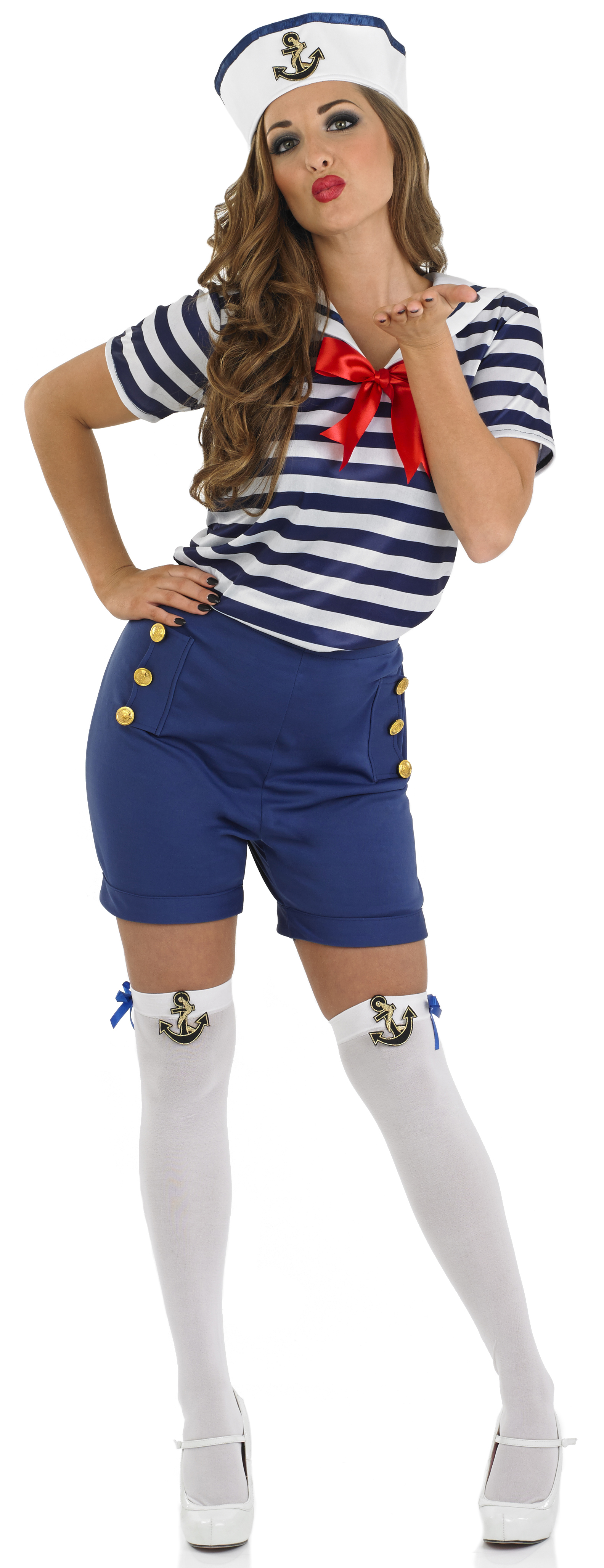 Sentinel Sexy Sailor + Hat Ladies Fancy Dress Military Uniform Womens Adult Navy Costume  sc 1 st  eBay & Sexy Sailor + Hat Ladies Fancy Dress Military Uniform Womens Adult ...