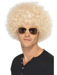 Adults 1970s Blonde Funky Afro Wig