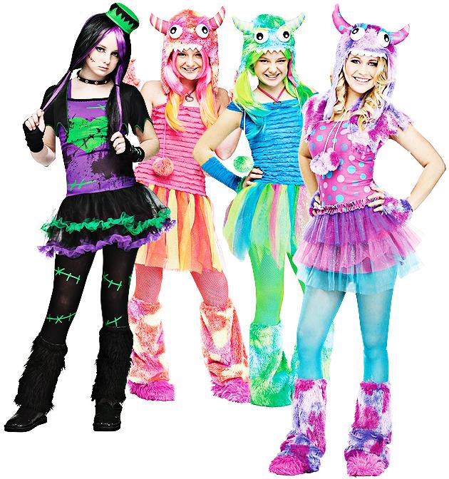 Cute Teen Monster Age 11-14 Girls Fancy Dress Halloween ...