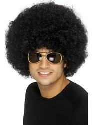 Adults 1970s Black Funky Afro Wig