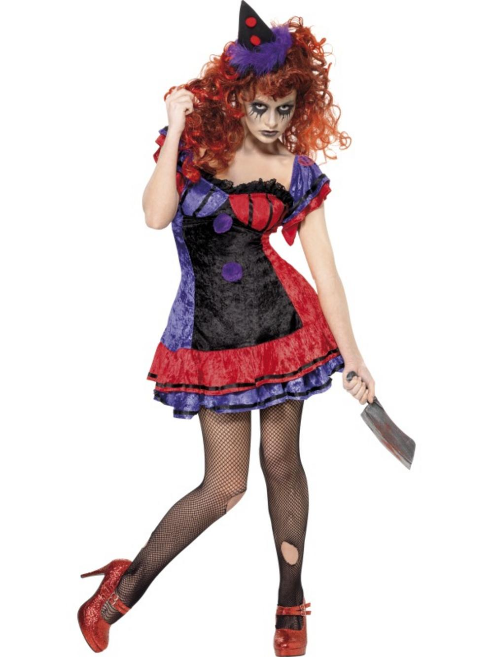 Cirque Sinister Bo Bo Clown Halloween Costume