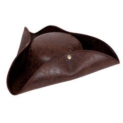 Adults Pirate Distressed Leather Hat