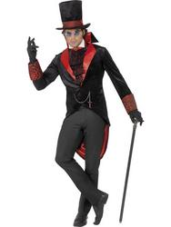 Mens Dracula Vampire Halloween Fancy Dress Costume
