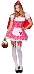 Ladies Raunchy Red Riding Hood Costume
