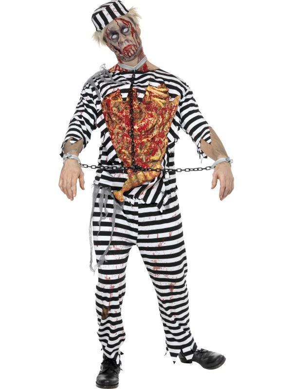 Men\'s Zombie Convict Fancy Dress Costume | All Mens Halloween ...