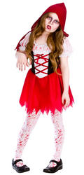 Girls Lil Zombie Riding Hood Costume