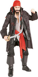 Captain Cutthroat Pirate Costume & Wig
