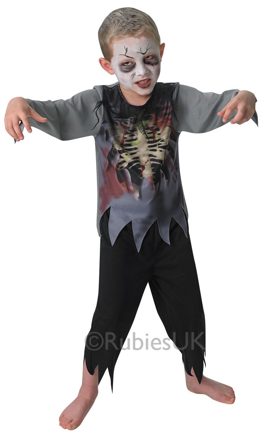 Zombie Boy Kids Halloween Fancy Dress Walking Dead Horror Childrens Costume New - eBay