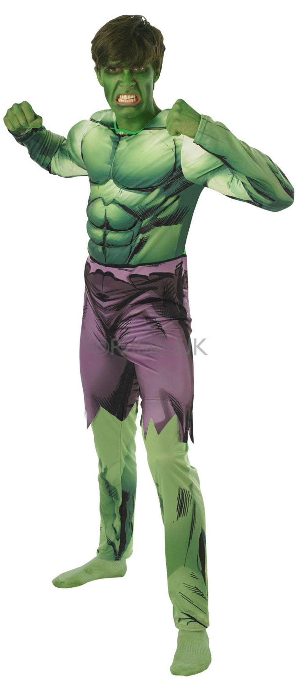 Mens Hulk Deluxe Costume