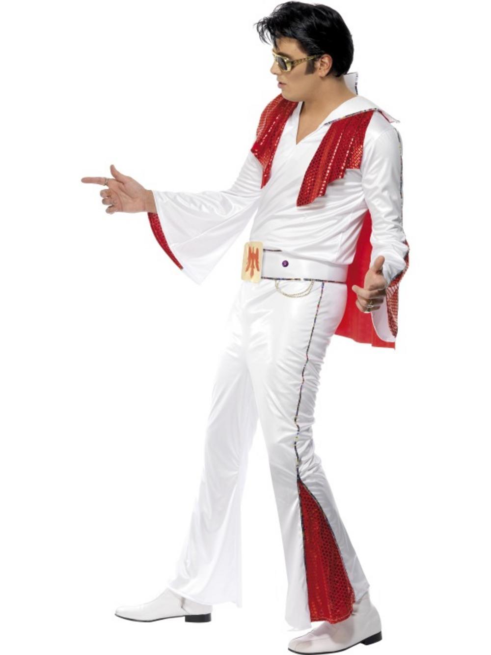 Elvis Presley Vegas King White Costume 50s Costumes