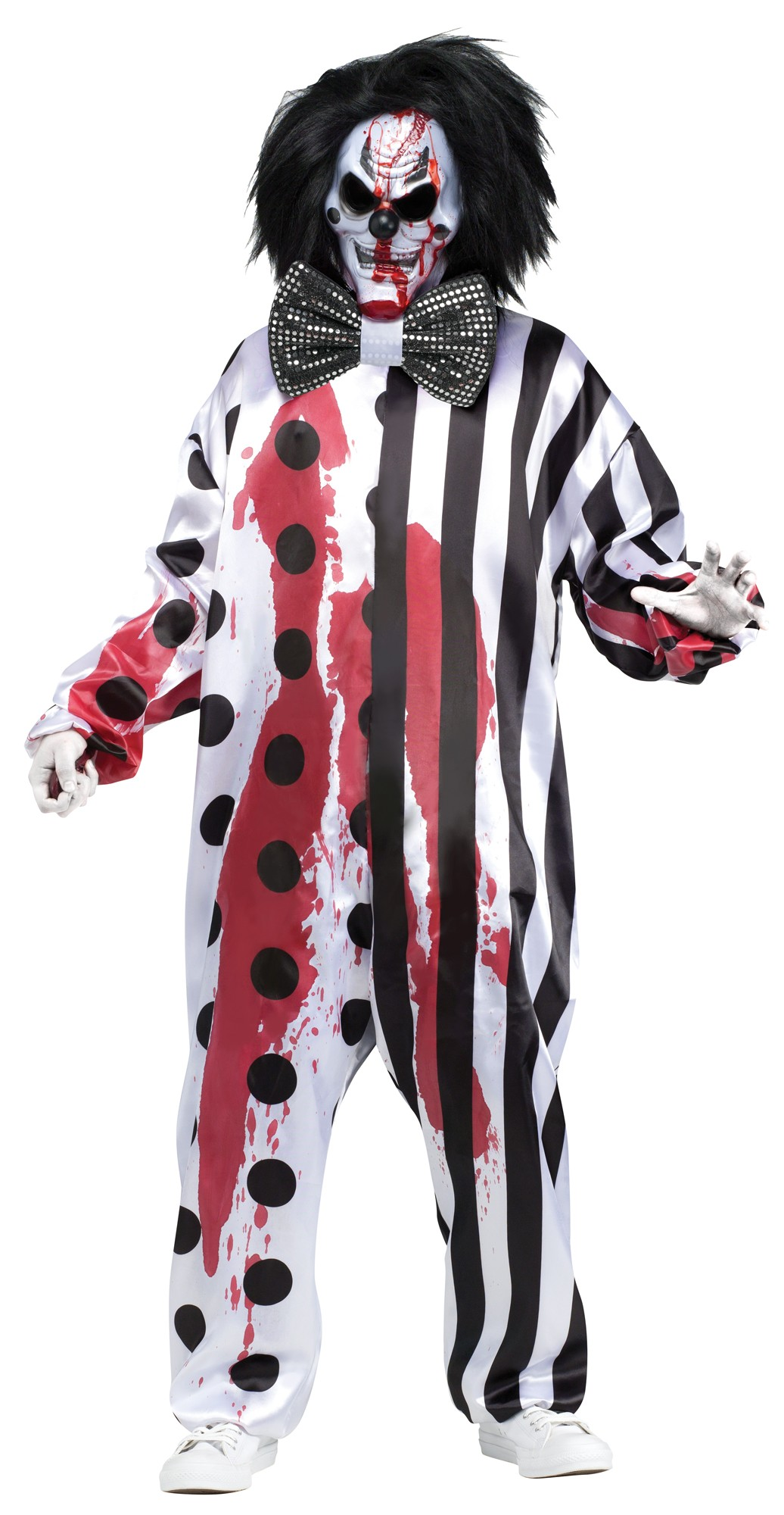 killer clown mens fancy dress gory circus horror adults halloween