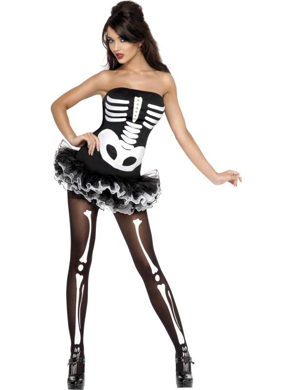 Fever Sexy Skeleton Costume  sc 1 st  Mega Fancy Dress & Fever Sexy Skeleton Costume | All Ladies Halloween Costumes | Mega ...