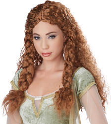 Brown Viking Princess Wig