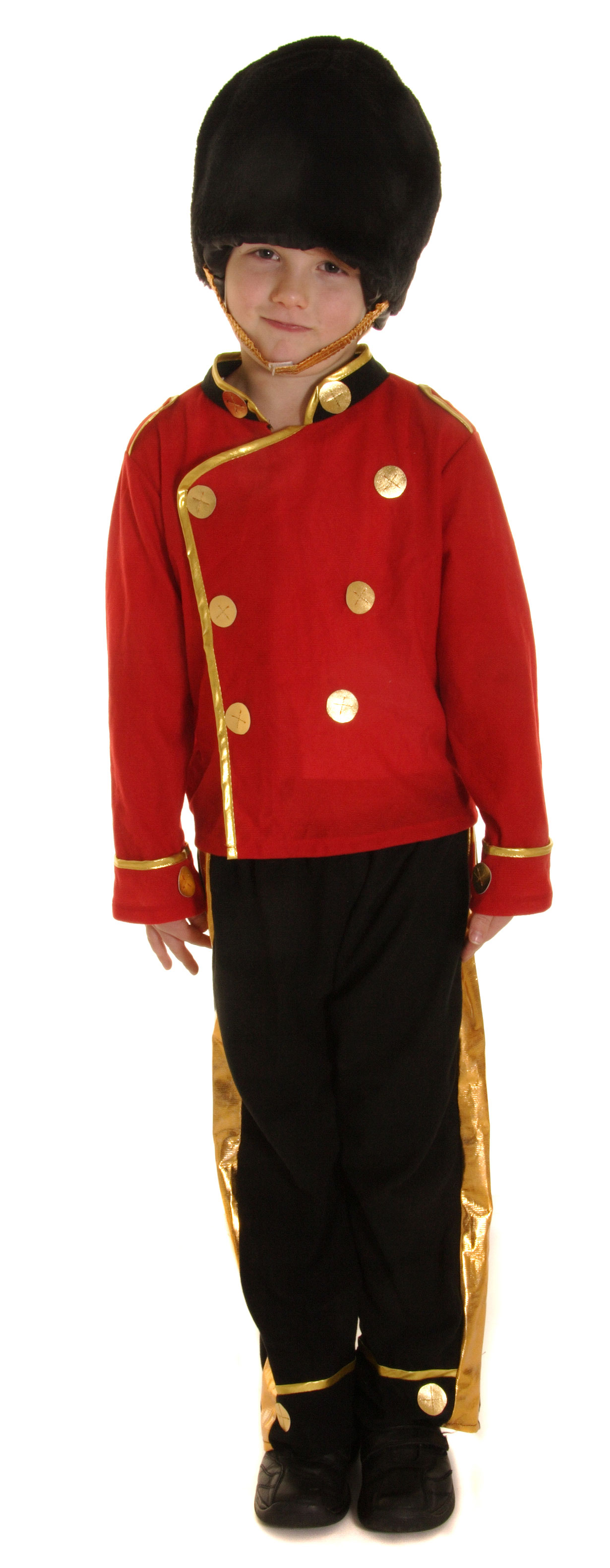 Boys Kids British Royal Guard Uniform Costume Jacket Hussar Drum Fancy Dress Top