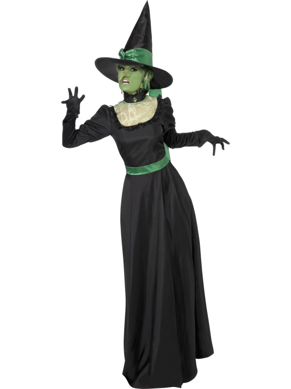 Wicked Witch Halloween Costume  sc 1 st  Mega Fancy Dress & Wicked Witch Halloween Costume | All Ladies Halloween Costumes ...
