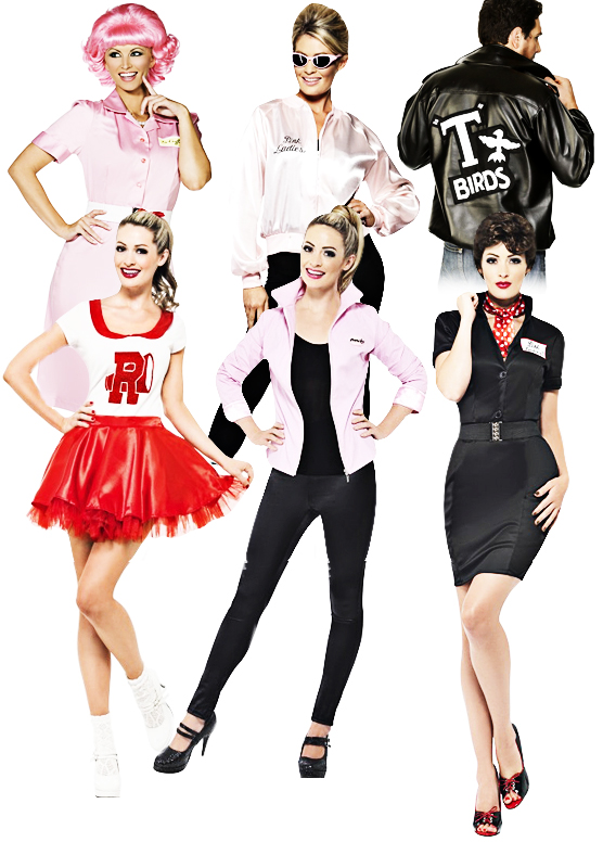 110def23efc Sentinel Grease 1950s Adult Fancy Dress Fifties Movie Character Mens Ladies  50s Costume Sc 1 St EBay