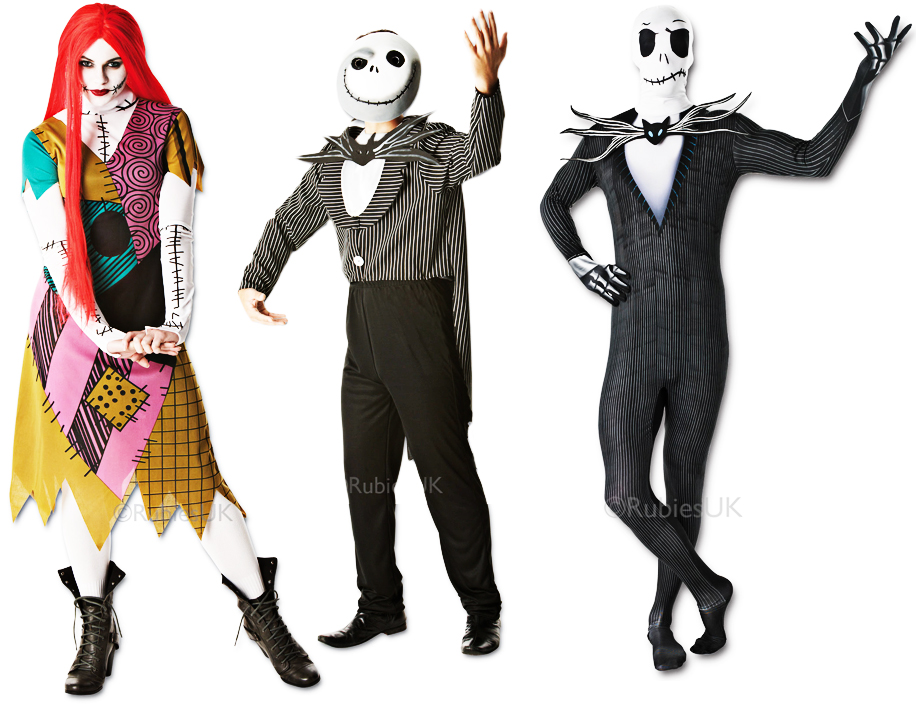 The Nightmare Before Christmas Adults Fancy Dress Halloween Mens ...