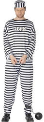 Convict Prisoner Mens Costume