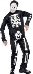 Mens Skeleton Jumpsuit Costume
