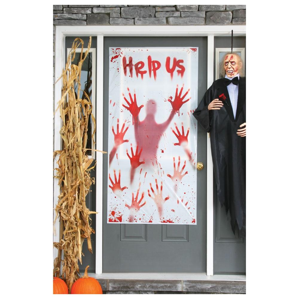 Quot Help Us Quot Scary Halloween Door Cover Halloween Make Up