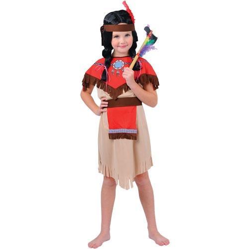 Girls Native Indian Costume Girls World Book Day Fancy Dress