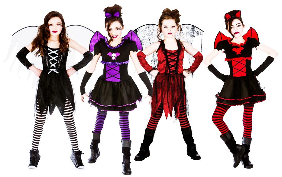 sentinel halloween girls fancy dress up horror vampire fairy scary kids childrens costume - Halloween Girl Dress Up