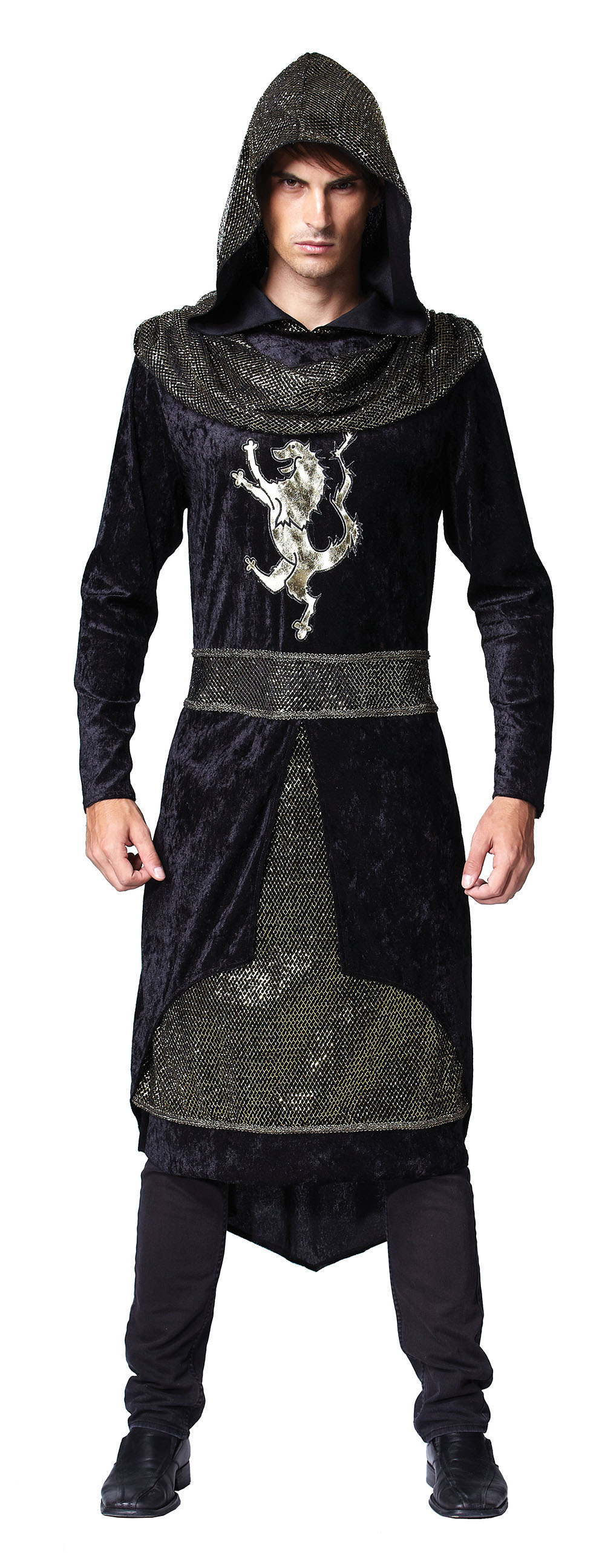 Medieval Royal Prince Mens Fancy Dress Renaissance Hooded ...