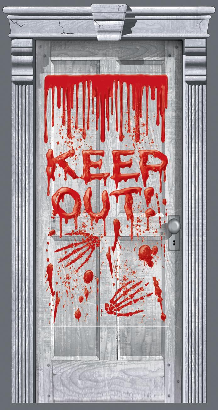 Dripping Blood Door Gore Halloween Accessories Mega