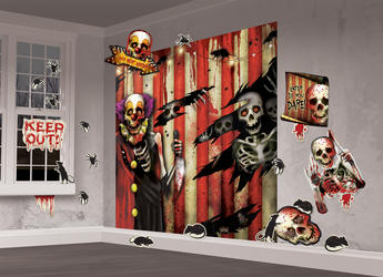 Creepy Carnival Scene Setter Decoration Kit