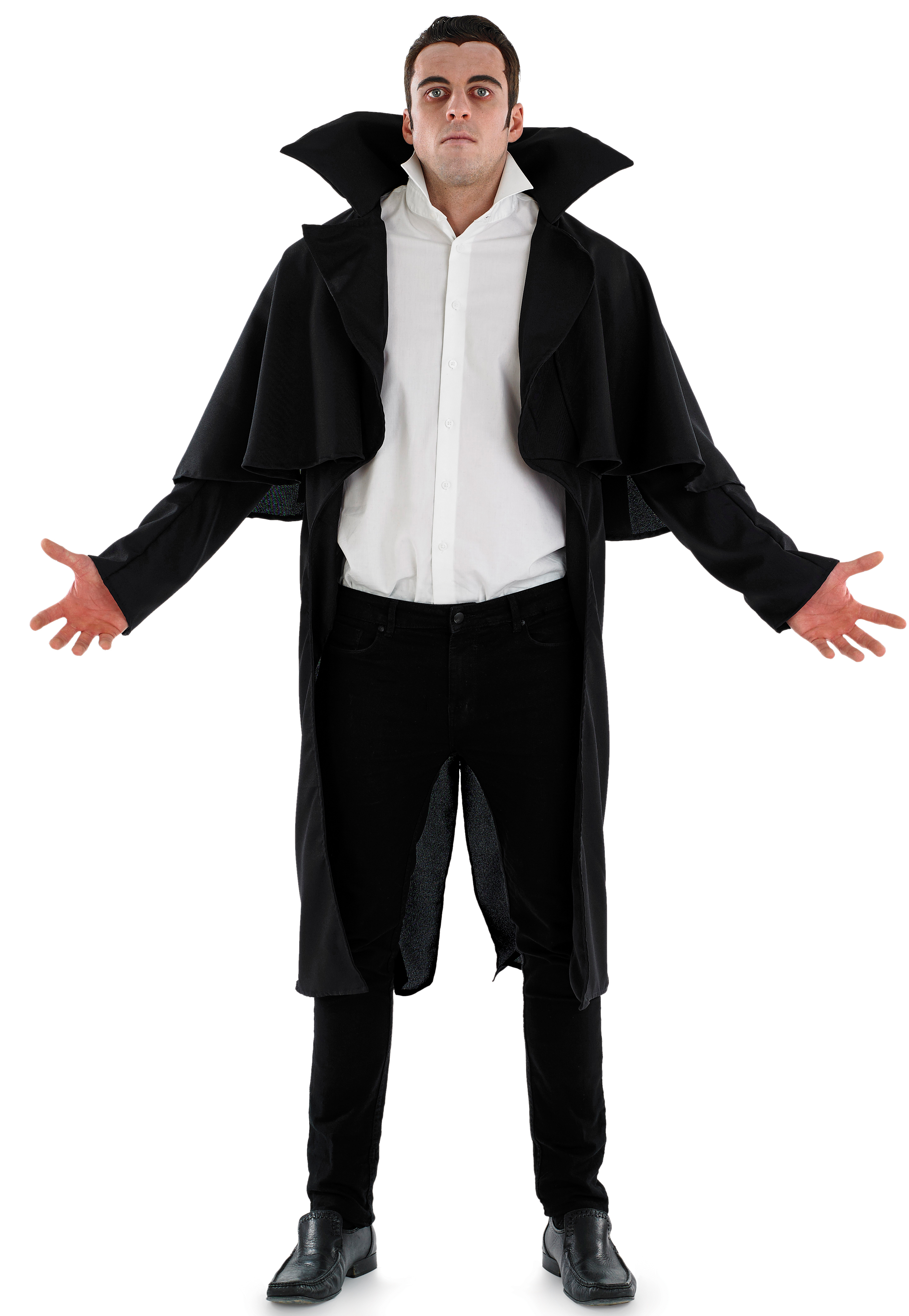 gothic vampire coat mens fancy dress halloween dracula adults costume accessory - Halloween Dracula Costumes