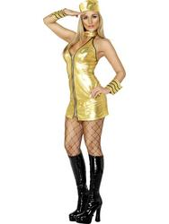 Sexy Gold Mile High Air Hostess Costume