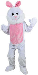 White Bunny Rabbit Mascot Costume
