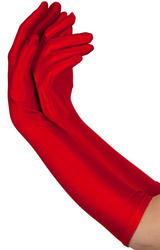 Long Red Gloves