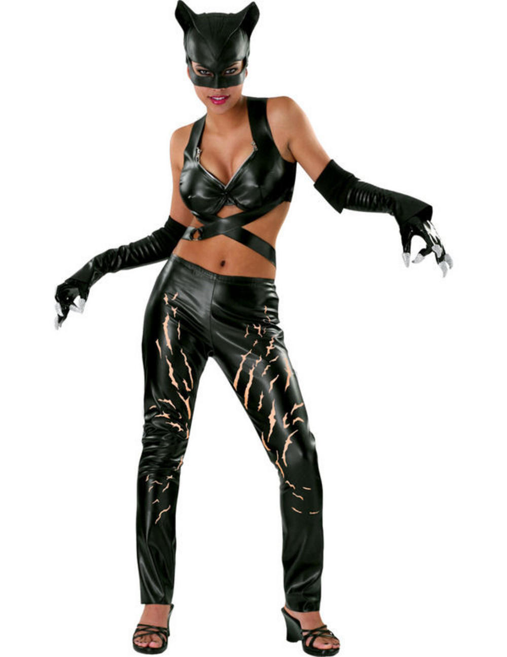 Ladies' Cat Woman Fancy Dress Costume