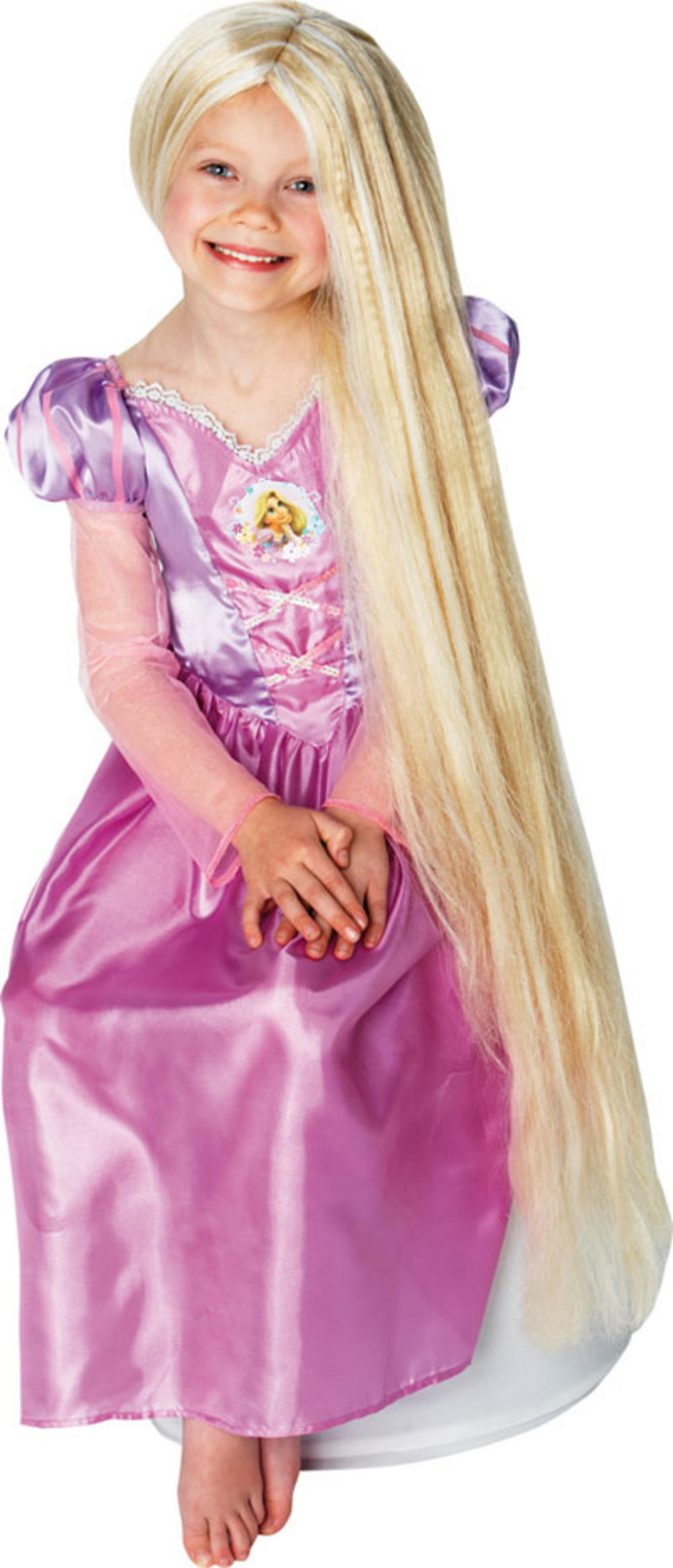 Girl 39 s disney tangled rapunzel glow in the dark wig kid 39 s fancy dress wigs mega fancy dress - Bebe raiponce ...
