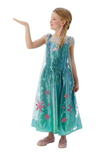 Frozen Fever Elsa Costume Kids Fancy Dress