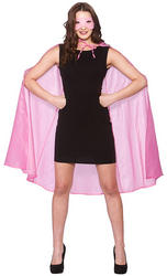 Pink Superhero Cape & Mask