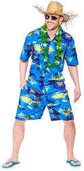 Hawaiian Blue Palm Costume