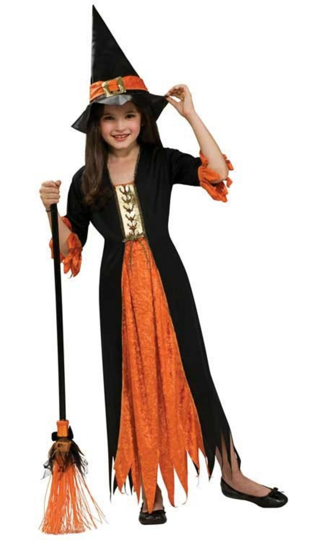 Girls Gothic Witch Halloween Costume Kids Halloween