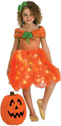 Girls Twinkle Pumpkin Princess Halloween Costume
