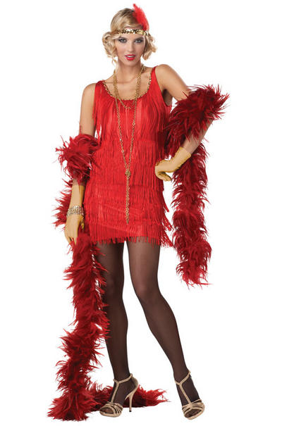 Red Fashion Flapper Costume