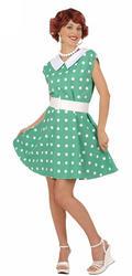 50s Green Polka Dot Costume