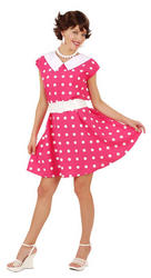50s Pink Polka Dot Costume