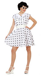 50s White Polka Dot Costume