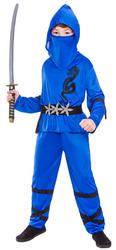 Blue Power Ninja Costume