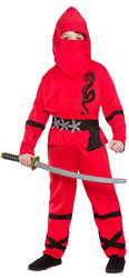 Red Power Ninja Costume