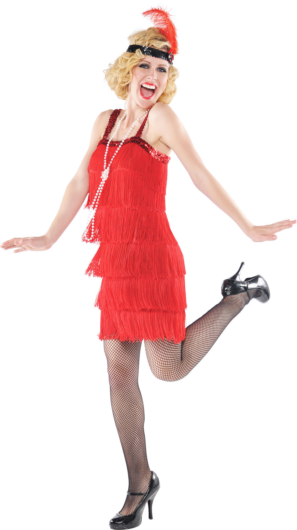 Red Flapper Dress Costume